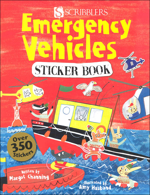 Emergency Vehicles Sticker Bk(Scribblers Fun)