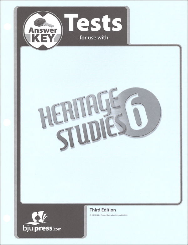 Heritage Studies 6 Tests Answer Key 3rd Edition