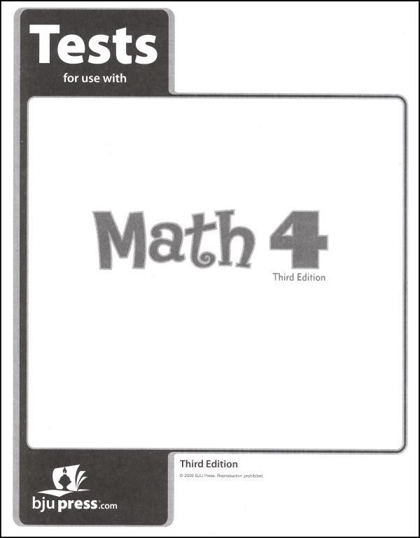 Math 4 Testpack 3rd Edition
