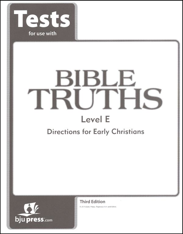 Bible Truths E Tests 3ED