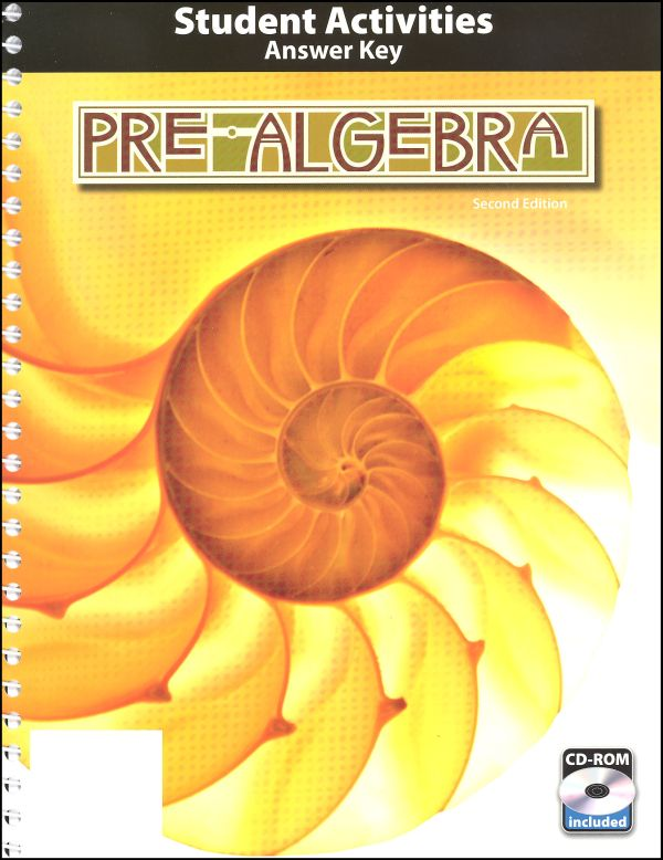 Pre-Algebra Activity Manual Key Book & CD 2nd Edition