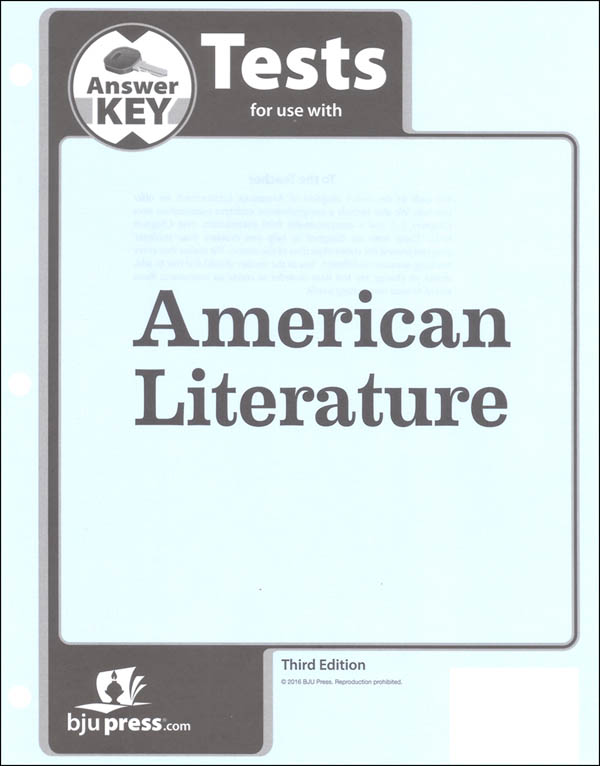 American Literature Tests Answer Key 3rd Edition