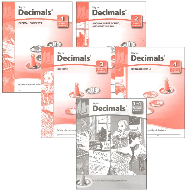 Key to Decimals complete set workbooks + keys