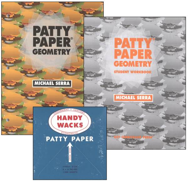 Patty Paper Geometry, Workbook & box of paper