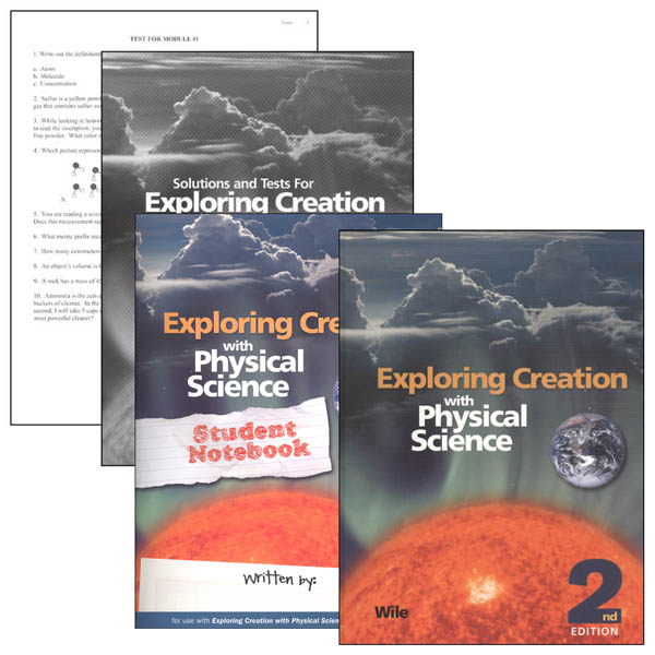 Exploring Creation with Physical Science Notebook Set