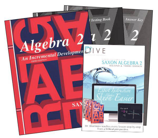 Algebra 2 3rd Edition Saxon Home Study Kit plus DIVE CD-ROM