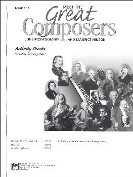 Meet the Great Composers Activity Sheets, Book 1