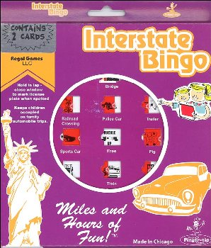 Interstate Bingo Game