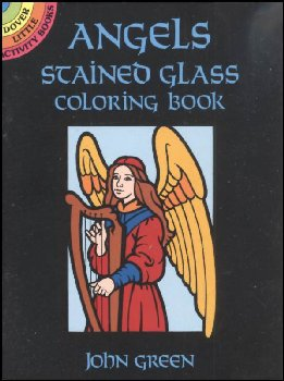 Angels Little Stained Glass Coloring Book