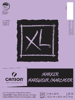 "Canson XL Marker Pad 9"" x 12"" (100 Sheets)"