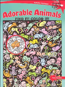 Adorable Animals: Find it! Color It (Dover Spark)