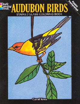 Audubon Birds Large Format Stained Glass Coloring Book