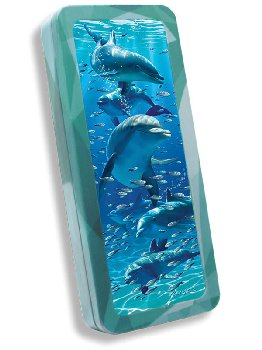 Dolphins 3D Pencil Tin