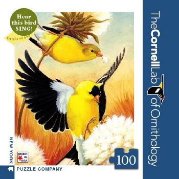 American Goldfinch - 100 piece Mini Puzzle (Cornell Birds)