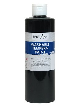 Black Washable Tempera Paint