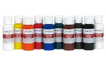 Set of 10 Acrylic Paints