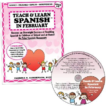 Teach & Learn Spanish in February (Book & CD)
