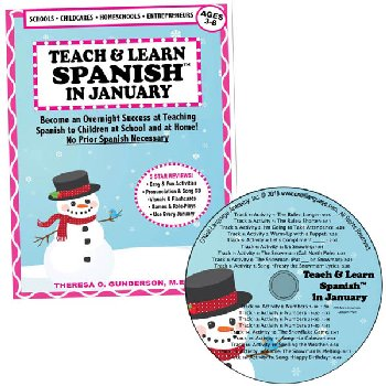 Teach & Learn Spanish in January (Book & CD)
