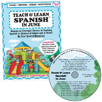 Teach & Learn Spanish in June (Book & CD)