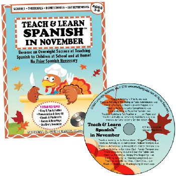 Teach & Learn Spanish in November (Book & CD)
