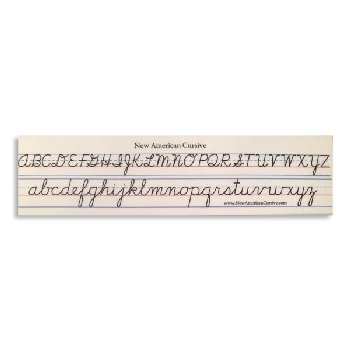 New American Cursive Desk Strips