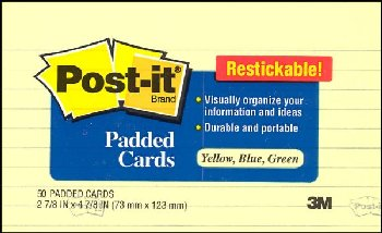 "Post-It Notes Ultra Colors (1/2"" x 2"") 12-pack"