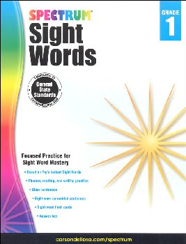 Spectrum Sight Words 2015 Grade 1