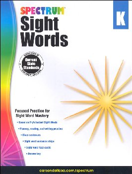 Spectrum Sight Words 2015 Grade K