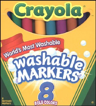 Crayola Washable Markers Bold (Set of 8)