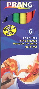 Brush Pens 6 Color Set - Classic Colors
