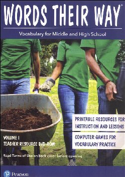 Words Their Way: Vocabulary for Middle & High School 2014 Teacher Resource DVD-ROM Volume I