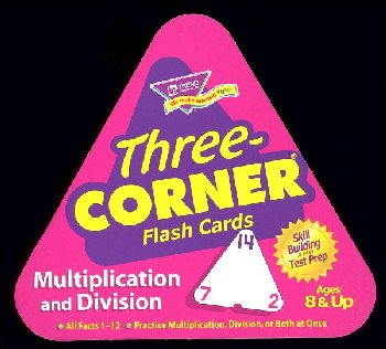 Multiply and Divide Three-Corner Flash Cards