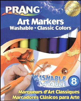 Prang Art Markers Washable Set 8 Color