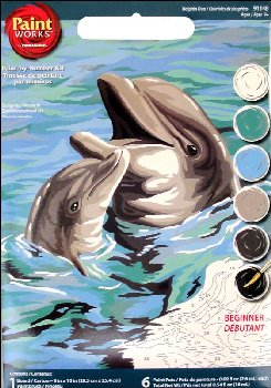Dolphin Duo Paint-By-Number (Beginner)
