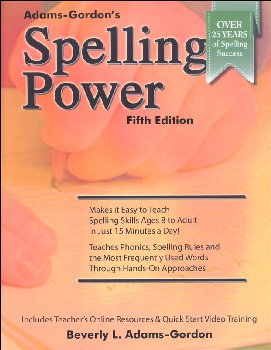 Spelling Power 4th Edition (Adams-Gordon's)