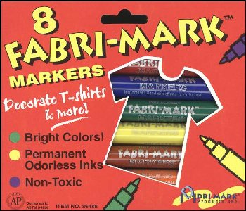 Fabric Fun Markers - Primary