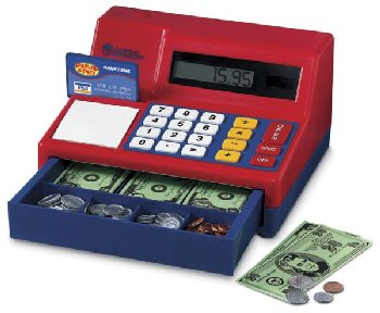 Pretend & Play Cash Register with Currency