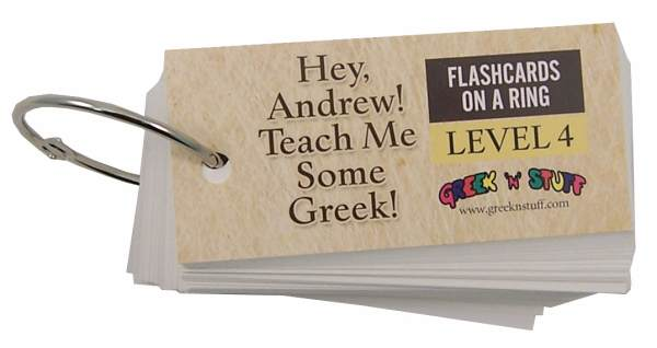 Greek Flashcards on a Ring Level 4