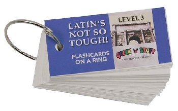 Latin's Not So Tough Flashcards on a Ring Level 3