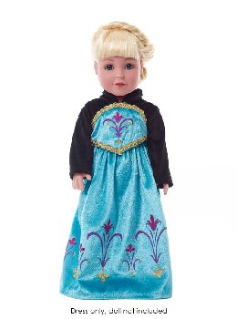 Ice Queen Coronation Doll Dress