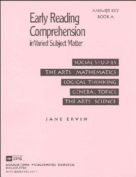 Early Reading Comprehension Bk A Teacher Key