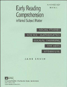 Early Reading Comprehension Book C Teacher Key