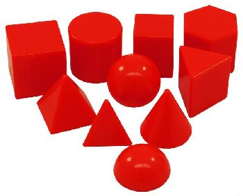 "Geometric Shapes (Plastic 3D based on 1"" size)"