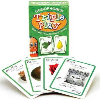 Homophones Triple Play Game