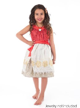 Polynesian Princess Dress with Hair Clip - Medium