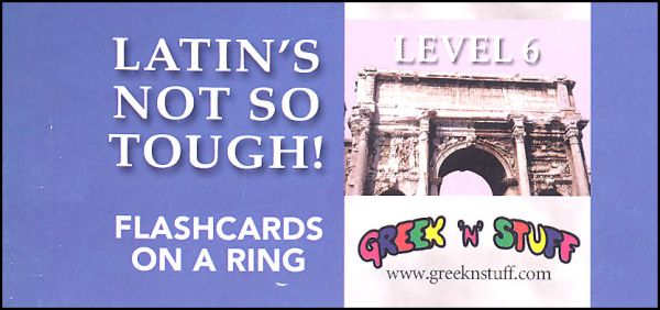 Latin's Not So Tough Flashcards on a Ring Level 6
