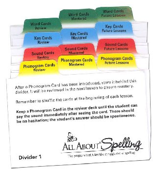 All About Spelling Divider Cards