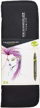 Prismacolor Art Markers (brush tip/fine tip) 24 count