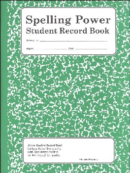Spelling Power Student Activity Record - Green