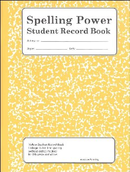 Spelling Power Student Activity Record - Yellow